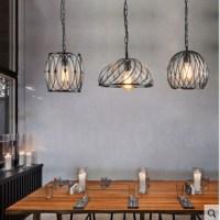1 Light Vintage Cafe Glass Pendant Light Loft Dining Room ...