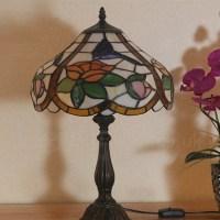 Rose Lamp Shade Retro 12 inch Tiffany Desk Lamp Living ...