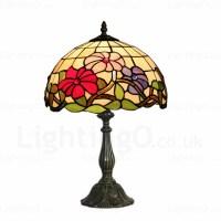 Flower Lamp Shade 12 inch Handmade Tiffany Desk Lamp ...