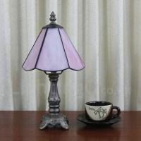 6inch Handmade Rustic Retro Tiffany Table Lamp Pink Lamp ...