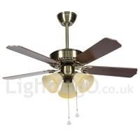 "42"" Modern Contemporary Ceiling Fan - LightingO.co.uk"