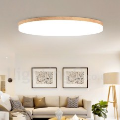 Ceiling Lights For Living Rooms Room Mood Lighting Nordic Round Bedroom Lamp Simple Modern Solid Wood Balcony Ultra Thin