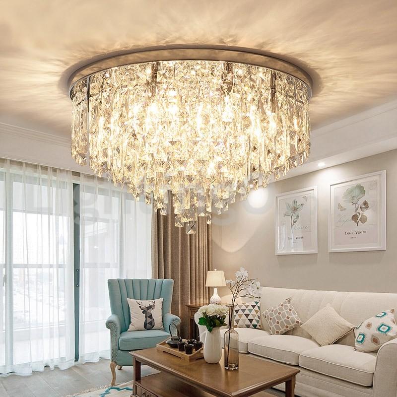 Modern Flush Mount Ceiling Lights Crystal Lights Study
