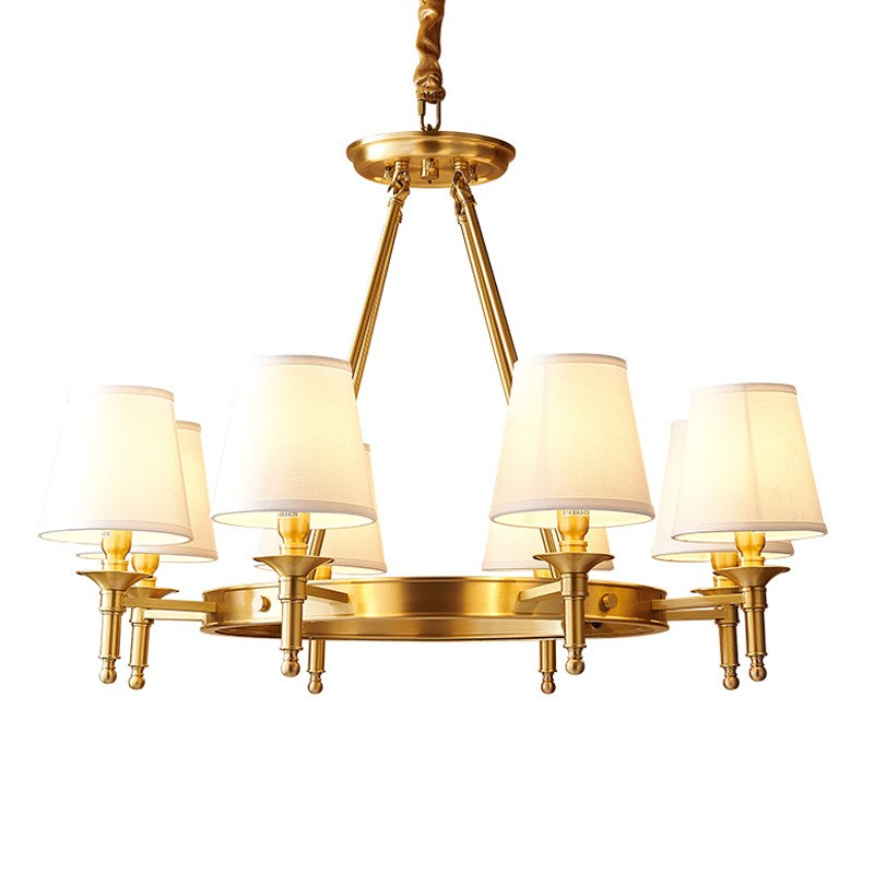 pure brass round chandelier pendant lights traditional classic for bedroom dining room kitchen study room office