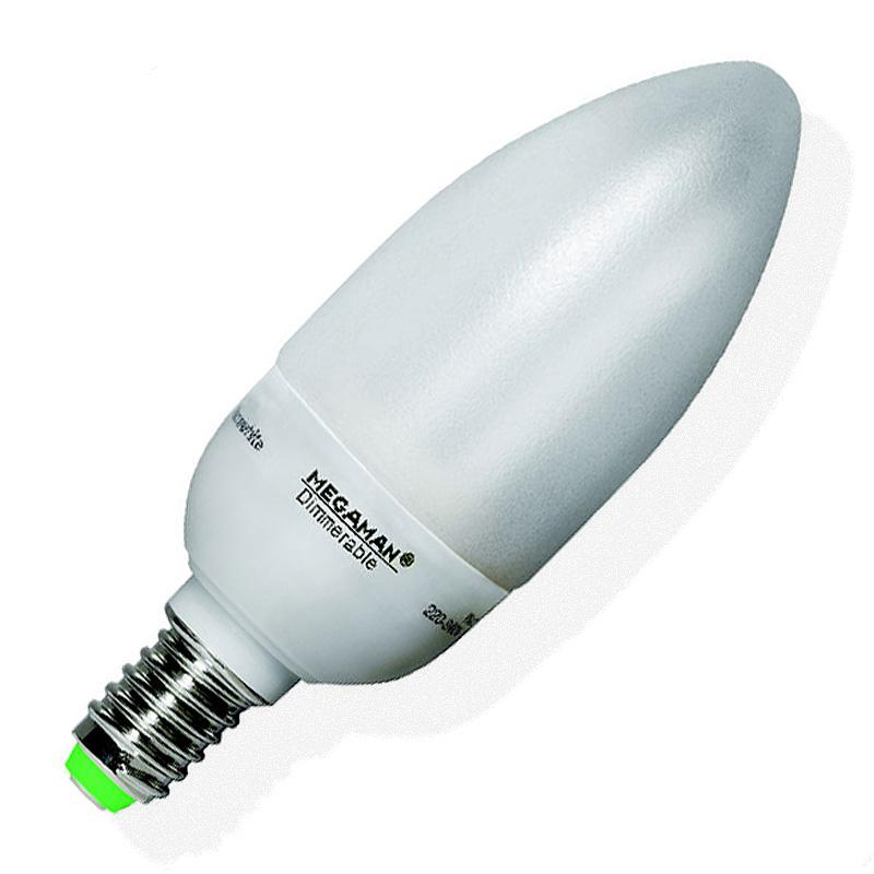 Dimmable CFL Candle Lamp