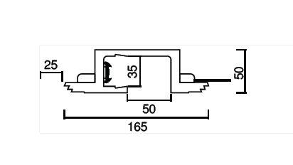 Micro Blade 50 Recessed Profile