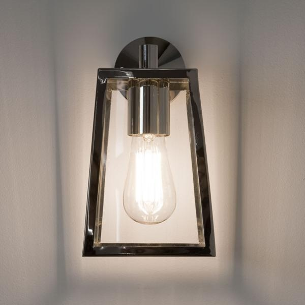 Ext Wall Lantern  Clear Glass H280mm