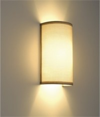 Modern Wall Light With Fabric Shades | Lighting Styles