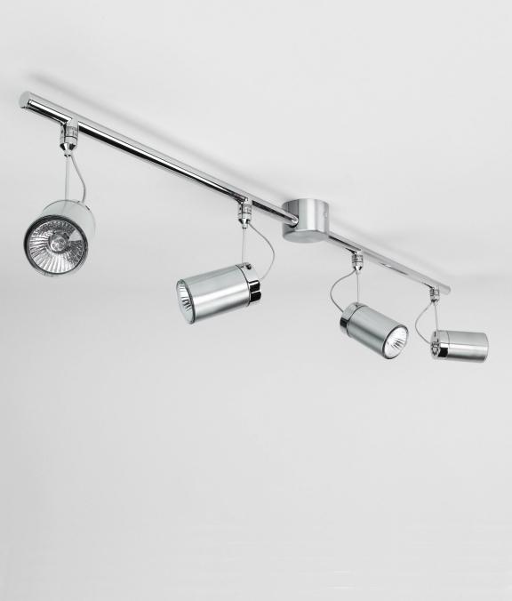brushed aluminium 4 spotlight bar