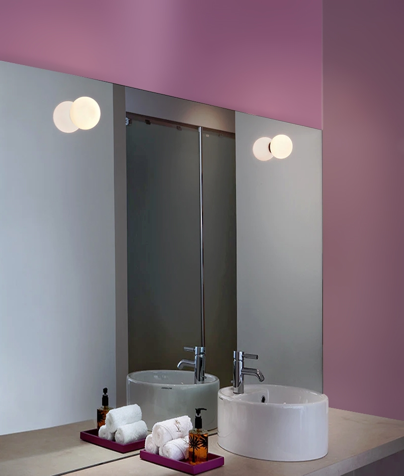 mini glo ball by flos for ceiling or wall