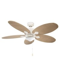 Ceiling Fan with Light in Rattan Styling