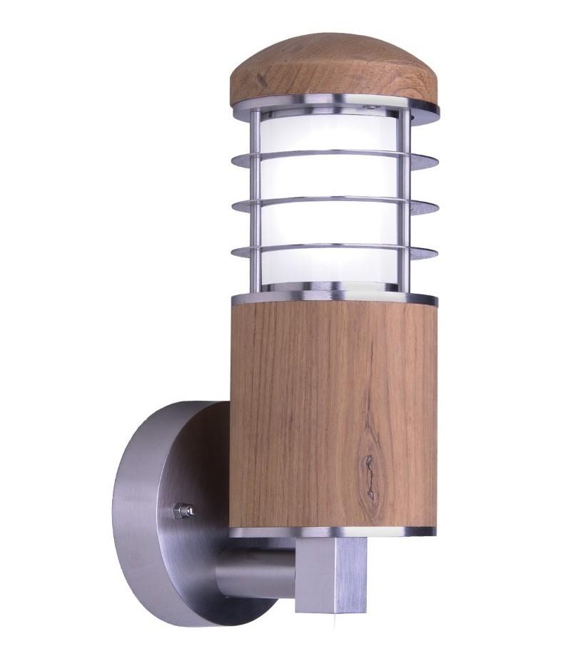 wall light teak marine grade 316 steel