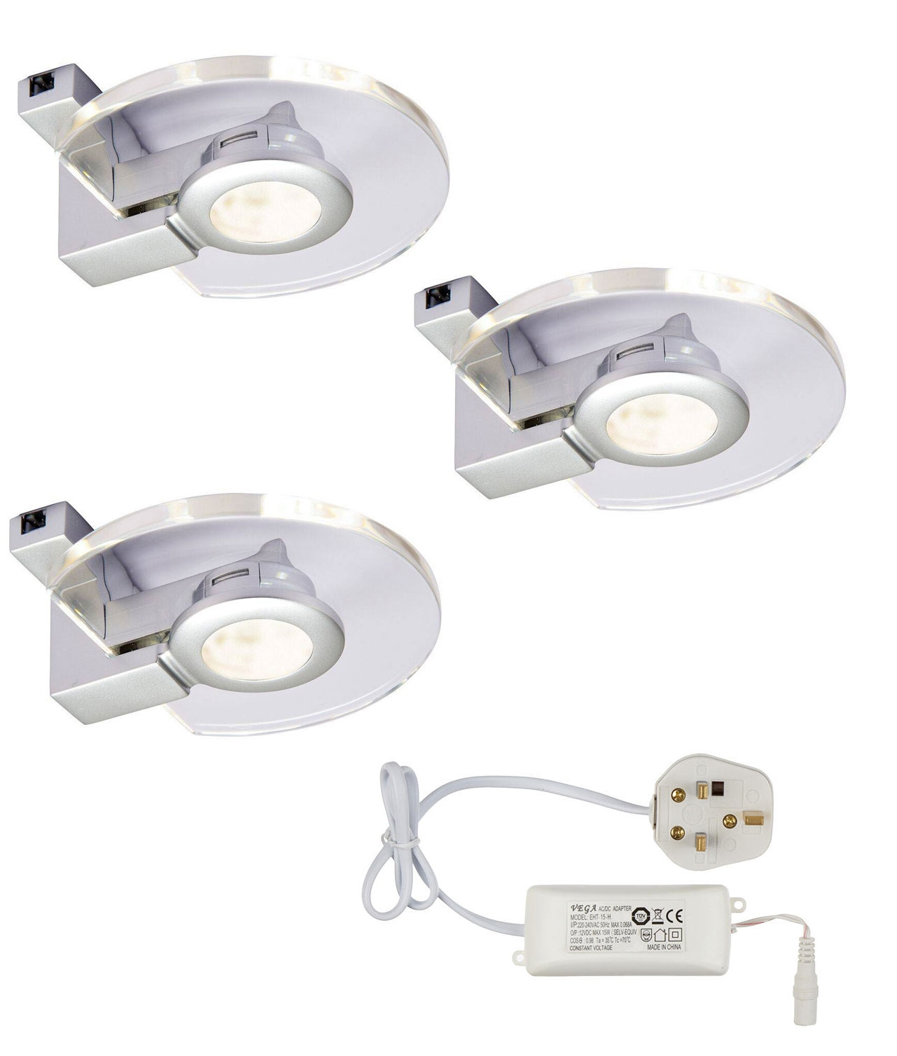 led under cabinet lights easy install pack of 3