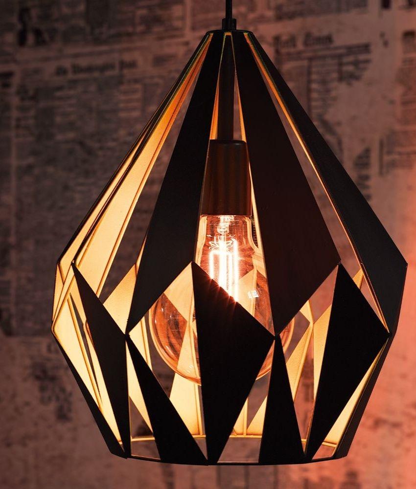 Retro Black Laser Cut Pendant