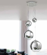 Silver Ball Hanging Pendant - 4 Light