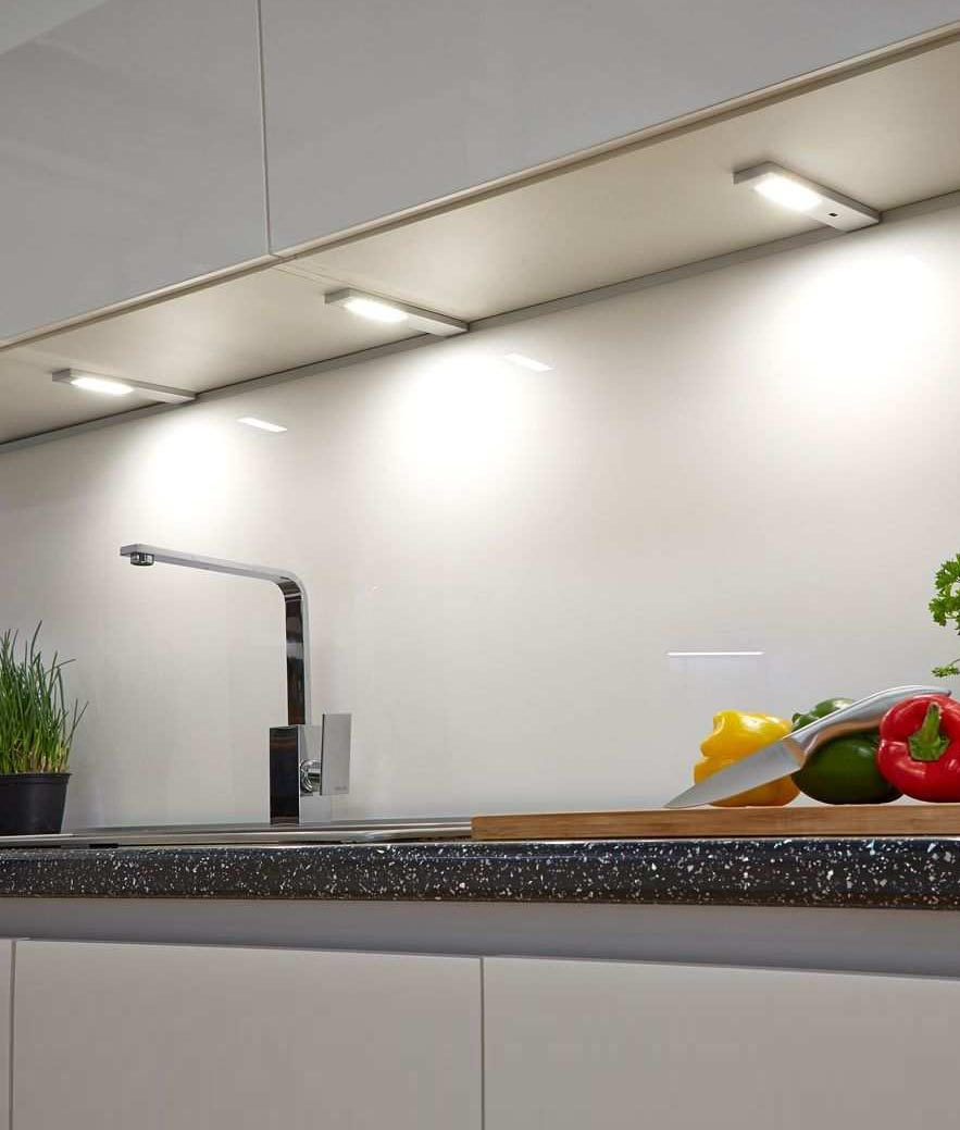 slim surface mounted under cabinet spot lighting touch sensor