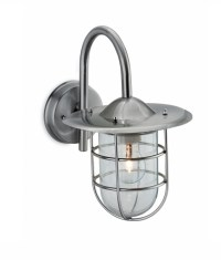 Caged Exterior Wall Light in Two Finishes