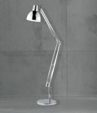 Chrome Industrial Style Floor Light