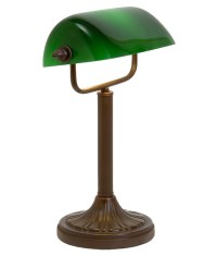 Bankers Lamp with Green Glass Shade