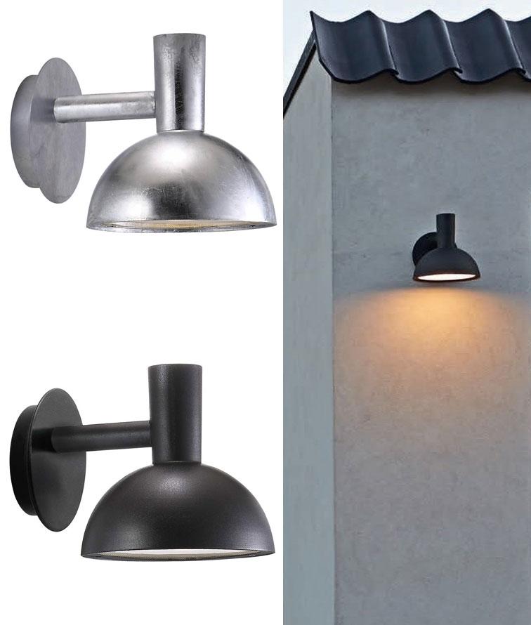 industrial style exterior bracket wall light