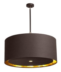 Drum pendant lights in two sizes and two colours