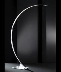 Curved Long Reach Floor Lamp - Chrome