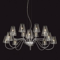 Chandelier with Chrome & Clear Glass