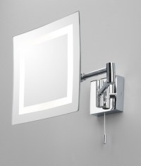 Bathroom Vanity Mirror - Chrome Halogen Square