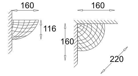 Ceramic Corner Uplighter with Grid Effect Pattern