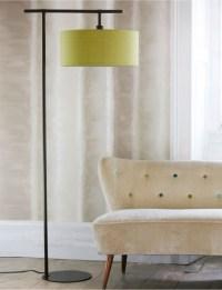 Dark Brown Floor Lamp & Lime Shade