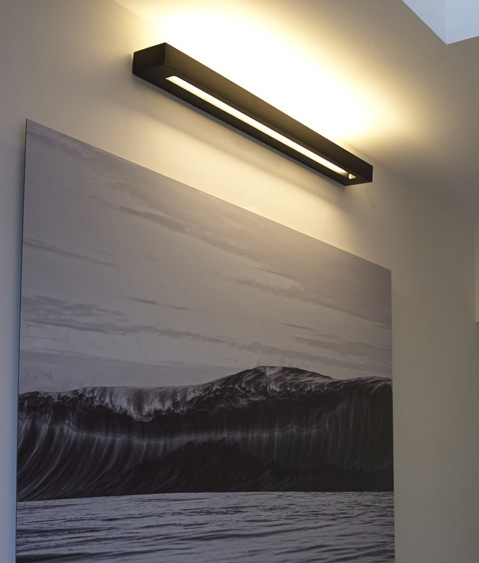 Linear Plaster Wall Light For Use With A T5 Lamp