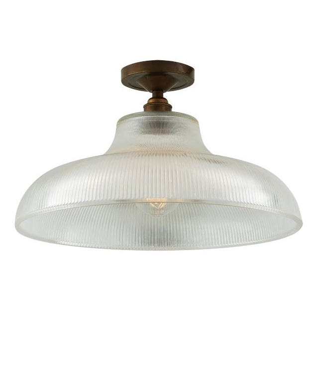 Semi Flush Prismatic Art Deco Prismatic Flush Light