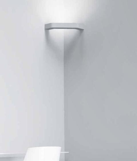 slim profile plaster corner wall light