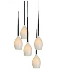 Teardrop Glass Pendant with 5 Lights