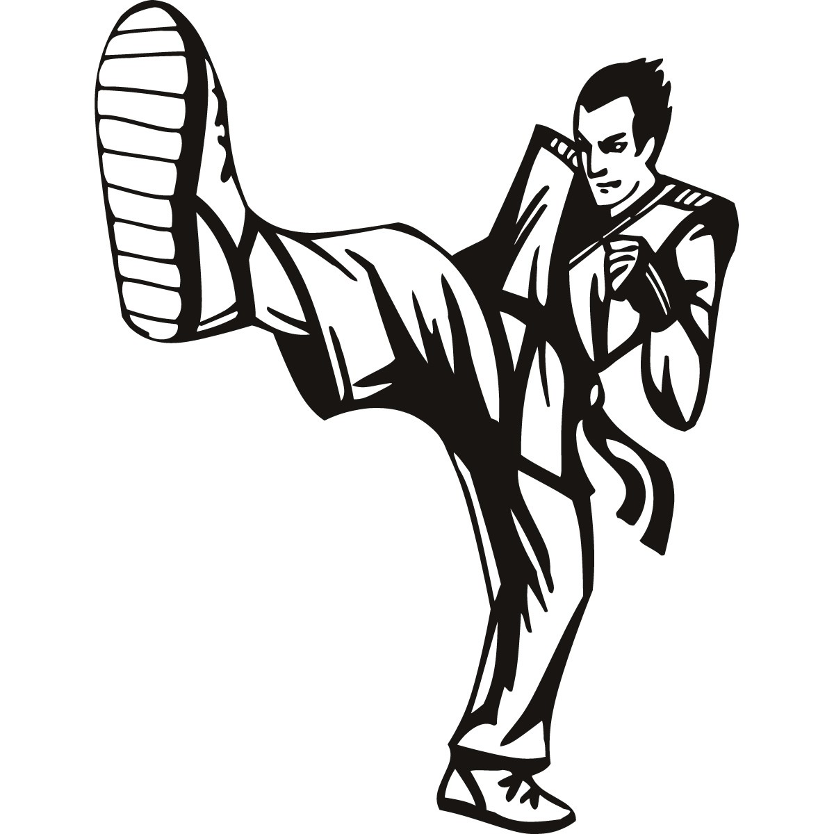 Flying Kick Martial Arts|D-Model: StickerCa-000059|Martial