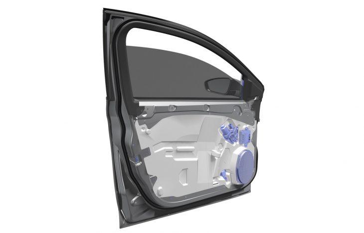 magna develops ultralight door