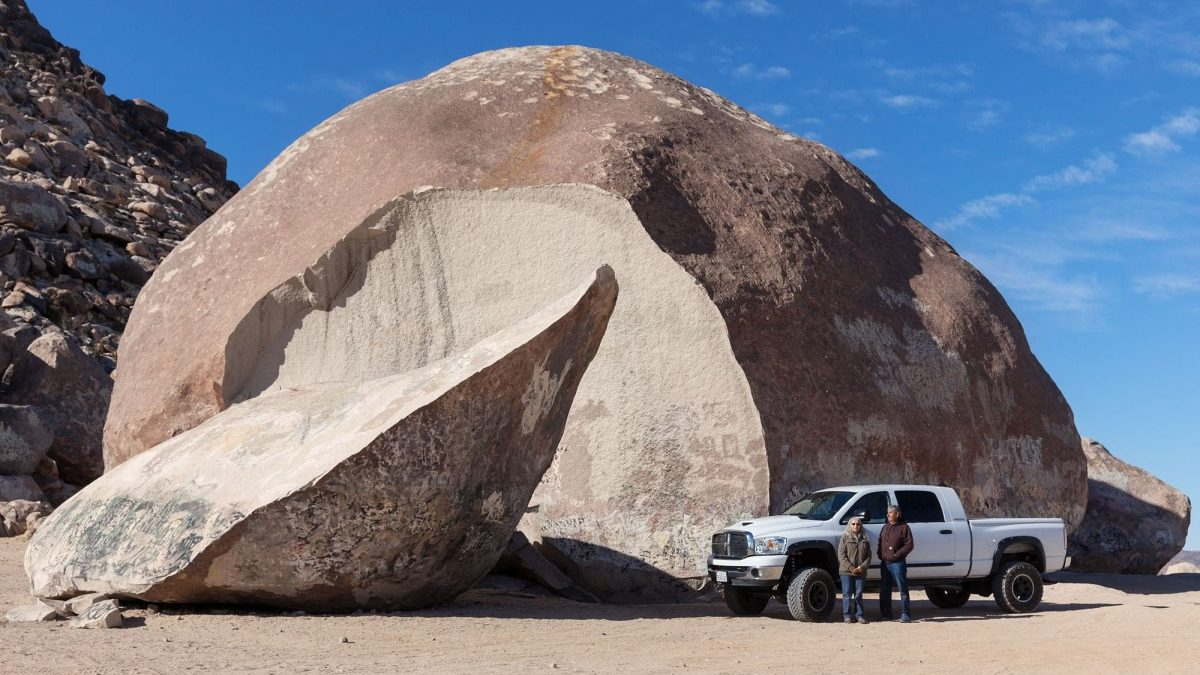 Ancient Prophesy Fulfilled: Giant Rock Splits