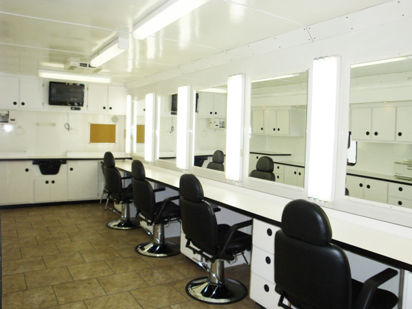 6 Station Slideout Hair and Makeup Trailers  Lightnin