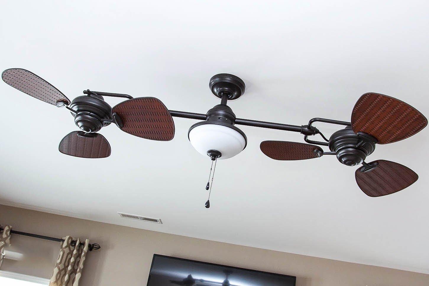 Double ceiling fans