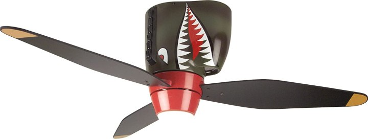 Tiger Shark Warplane Kids Ceiling Fan