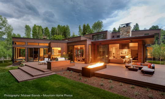 Winner: Robert Singer and Associates, Inc., Basalt, Colorado, and the design team of Robert Singer, IES, IALD, Chase Carter, LD, and Kim Quint, LEED AP, LD, for the lighting design of the Waterstone residence in Woody Creek, Colorado