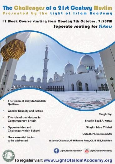 Jamia Masjid Chashtiah, Challenges of a 21st Muslim