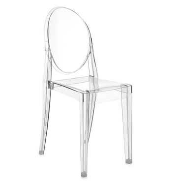ghost chairs blue kitchen by kartell victoria chair 4 pack