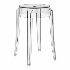 Ghost Bar Chair Ladder Back Dining Room Chairs Charles Stool 2 Pack By Kartell 4897 B4