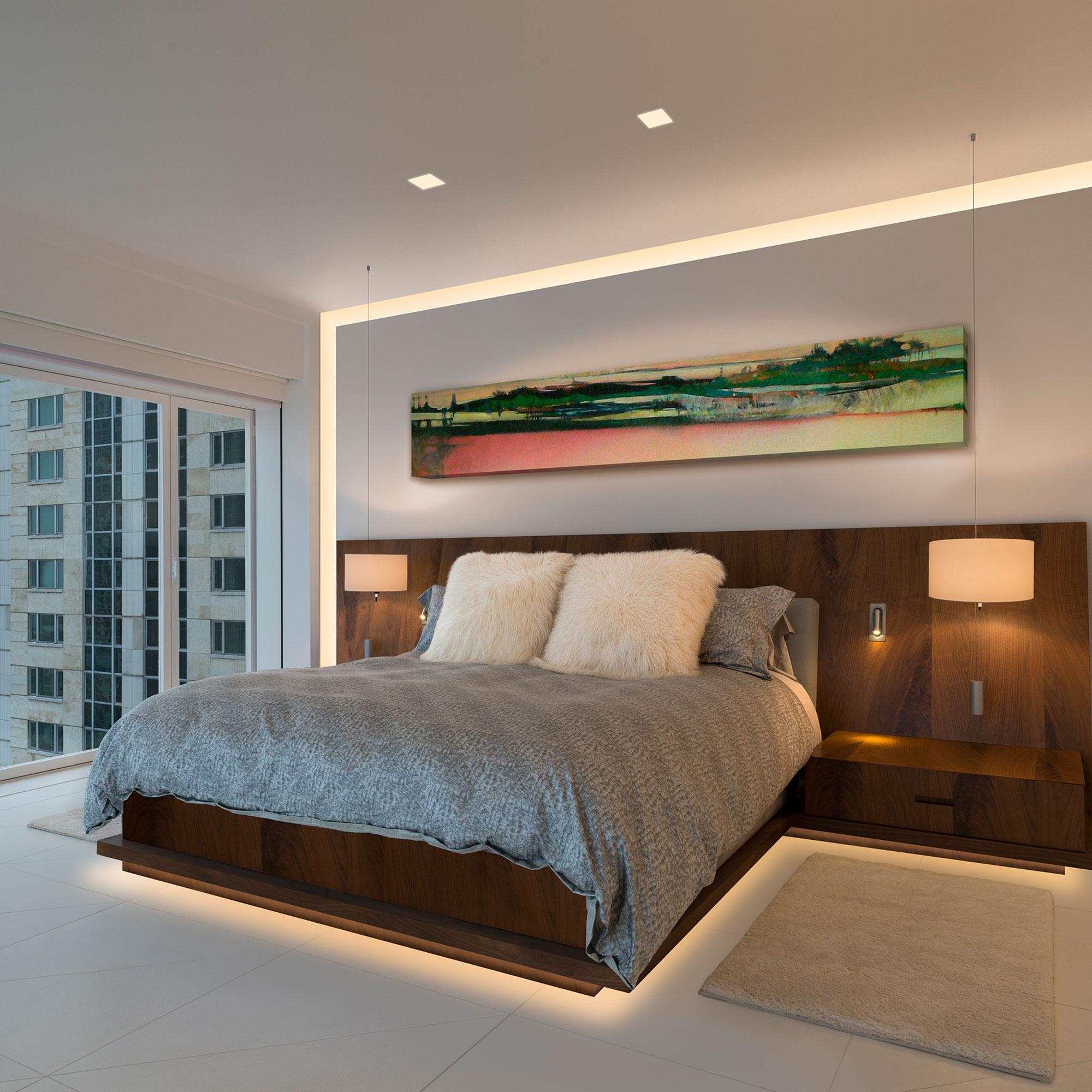 verge wall 5w 2k4k variable white plaster in system by pureedge lighting vg 5wdc 5ft 2k4k