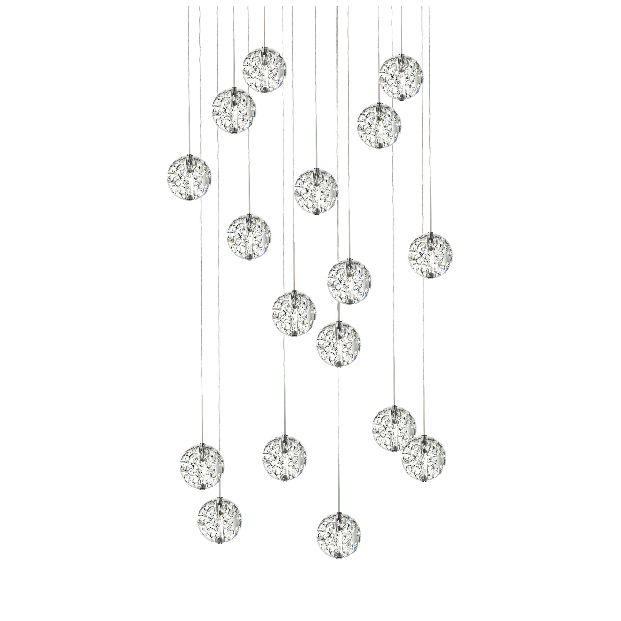 Bubble Ball 17 Light Round Led Pendant By Pureedge