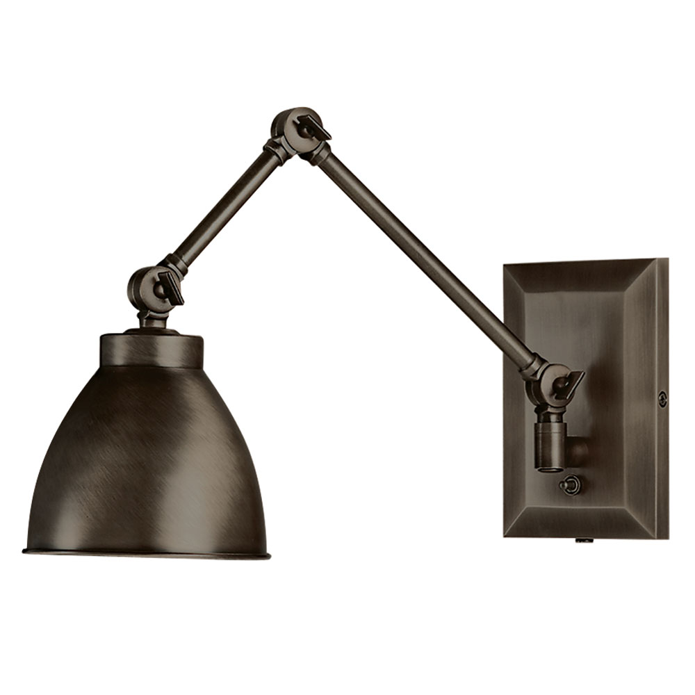 Maggie Bronze Swing Arm Wall Sconce by Norwell Lighting
