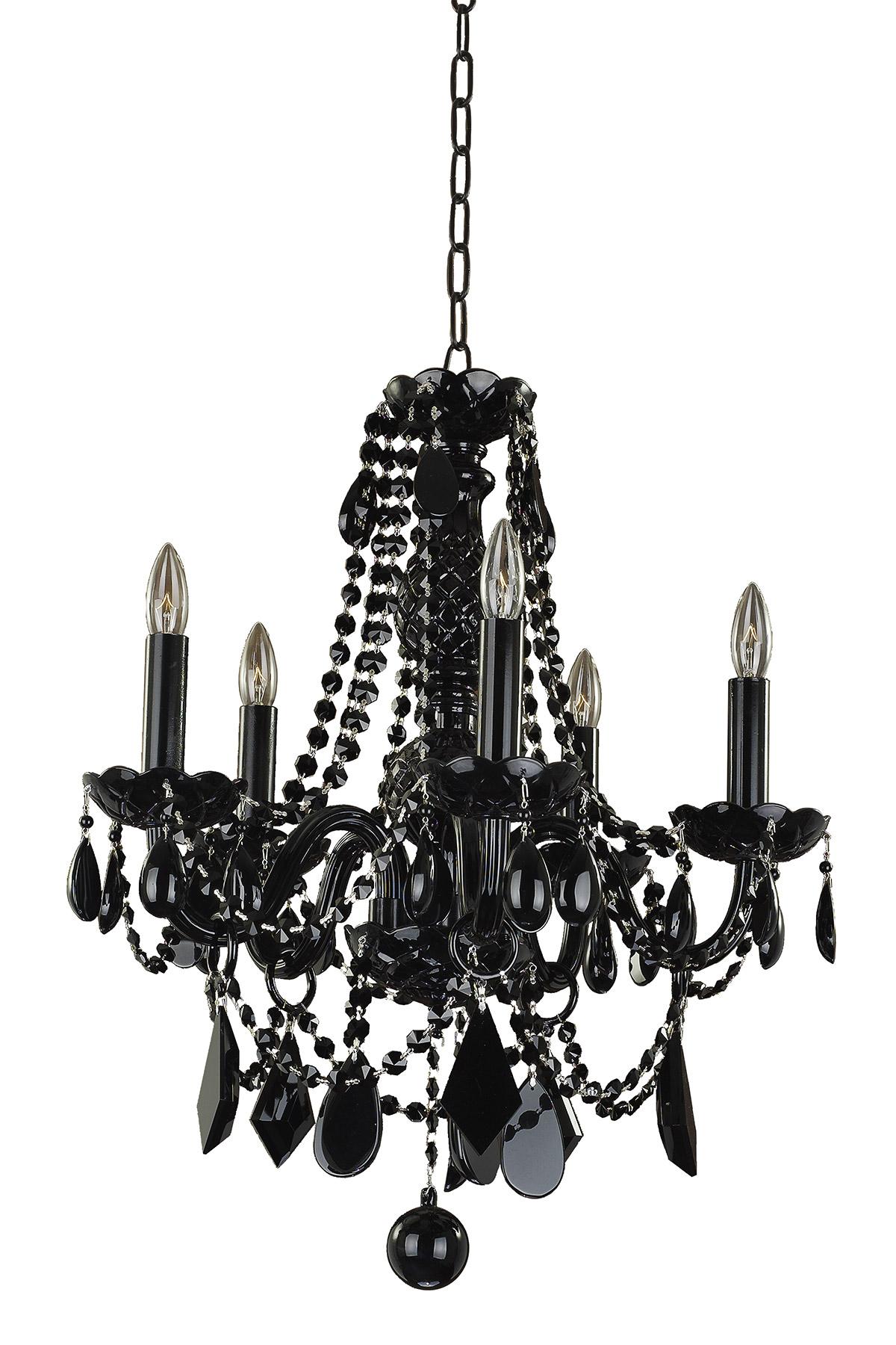 Black Tie 5 Light Chandelier By Glow Lighting