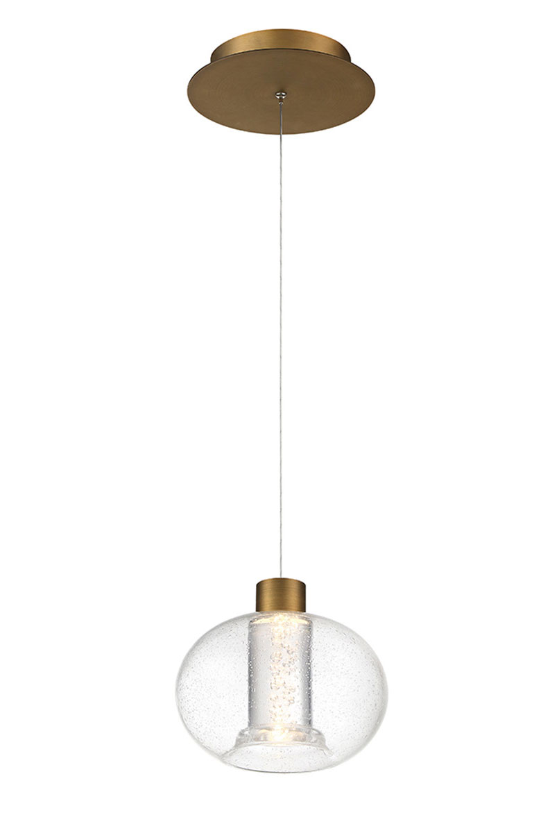 crater mini pendant by wac lighting pd 98908 ab