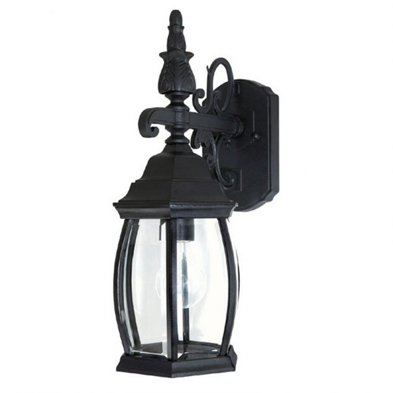 french country outdoor wall sconce by capital lighting 9866bk